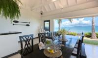 Villa Champak Dining Area with Ocean View | Maenam, Koh Samui