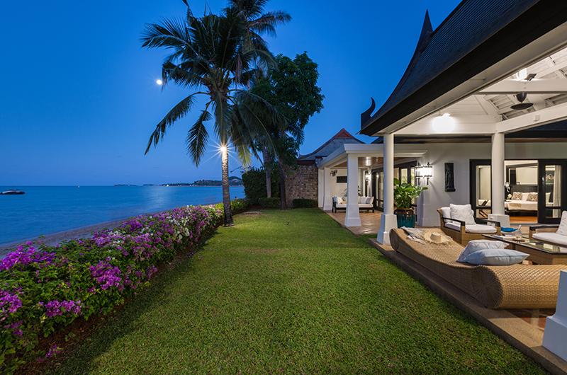 Villa Champak Garden Night View | Maenam, Koh Samui