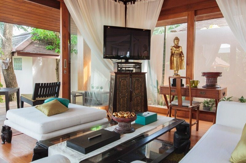 Baan Wanora Lounge Area with TV | Laem Sor, Koh Samui