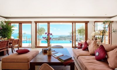 Ban Lealay Living Area with Pool View | Bophut, Koh Samui