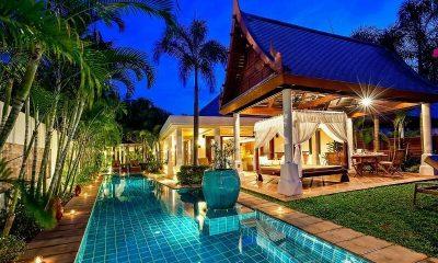 Bougainvillea Villa Night View | Maenam, Koh Samui