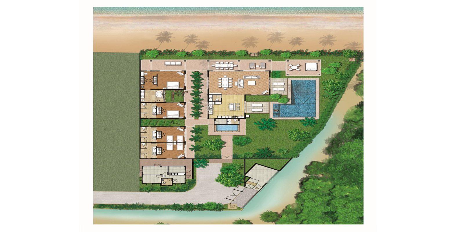 Habiscus Villa Floorplan   Maenam, Koh Samui