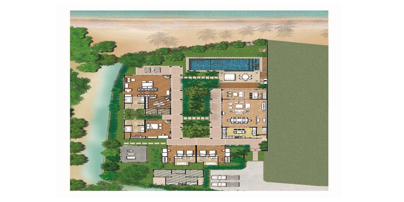 Villa Acacia Floorplan | Maenam, Koh Samui
