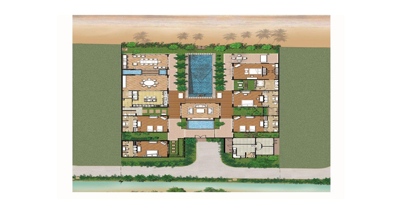 Villa Gardenia Floorplan | Maenam, Koh Samui