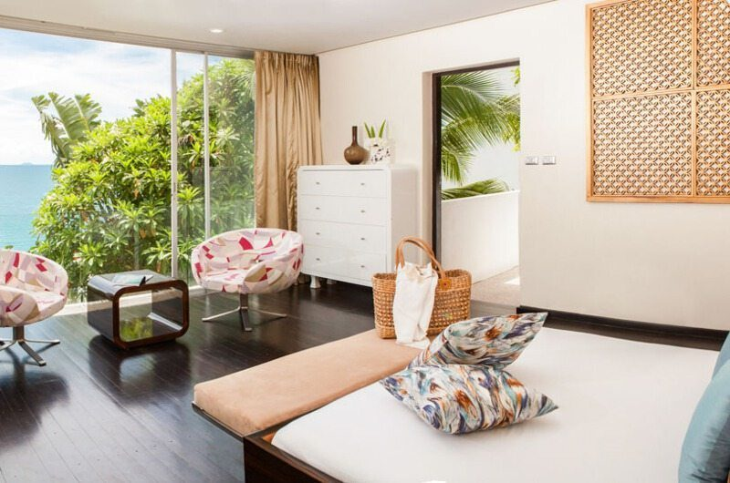 Villa Beige Bedroom with Ocean View | Taling Ngam, Koh Samui