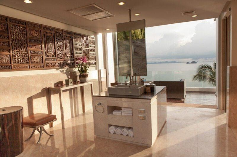 Villa Beige Open Plan Bathroom | Taling Ngam, Koh Samui