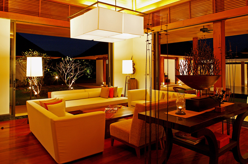 Jivana Beach Villas Jia At Jivana Living Area with Garden View   Natai, Phang Nga