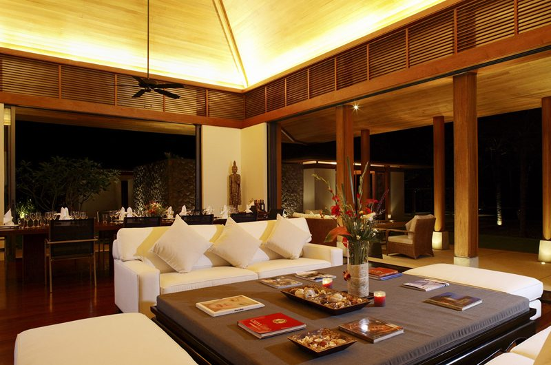 Jivana Beach Villas Shanti At Jivana Indoor Living and Dining Area | Natai, Phang Nga