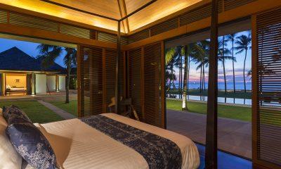 Jivana Beach Villas Shanti At Jivana Bedroom with Sea View | Natai, Phang Nga