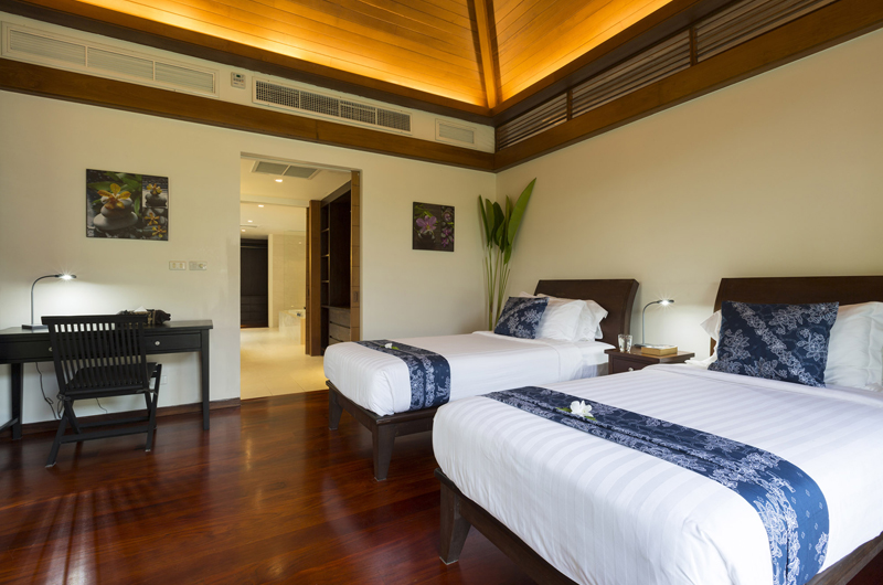 Jivana Beach Villas Shanti At Jivana Twin Bedroom with Study Table | Natai, Phang Nga
