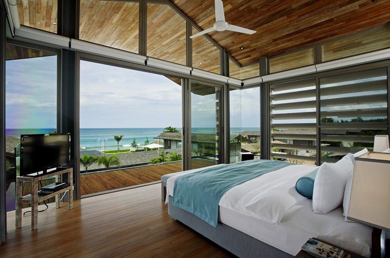 Sava Beach Villas Aqua Villa Bedroom and Balcony | Natai, Phang Nga