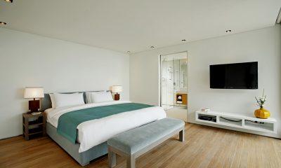 Sava Beach Villas Aqua Villa Bedroom with TV | Natai, Phang Nga
