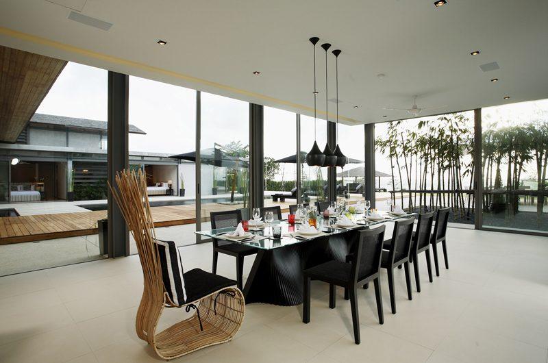 Sava Beach Villas Villa Essenza Dining Area with Pool View | Natai, Phang Nga