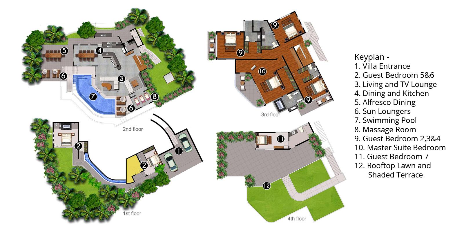 Villa Beyond Floorplan | Bang Tao, Phuket
