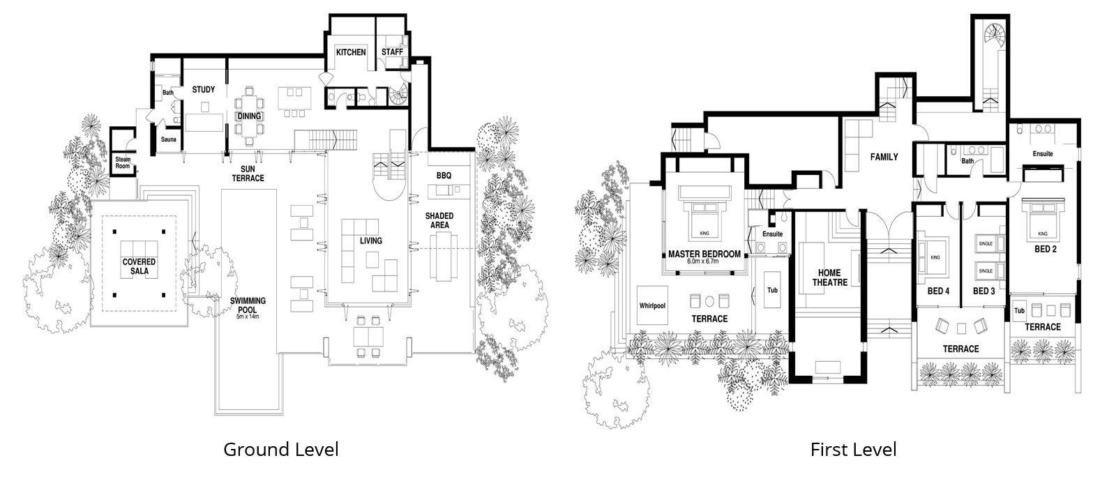 Villa Hale Malia Floorplan | Kamala, Phuket