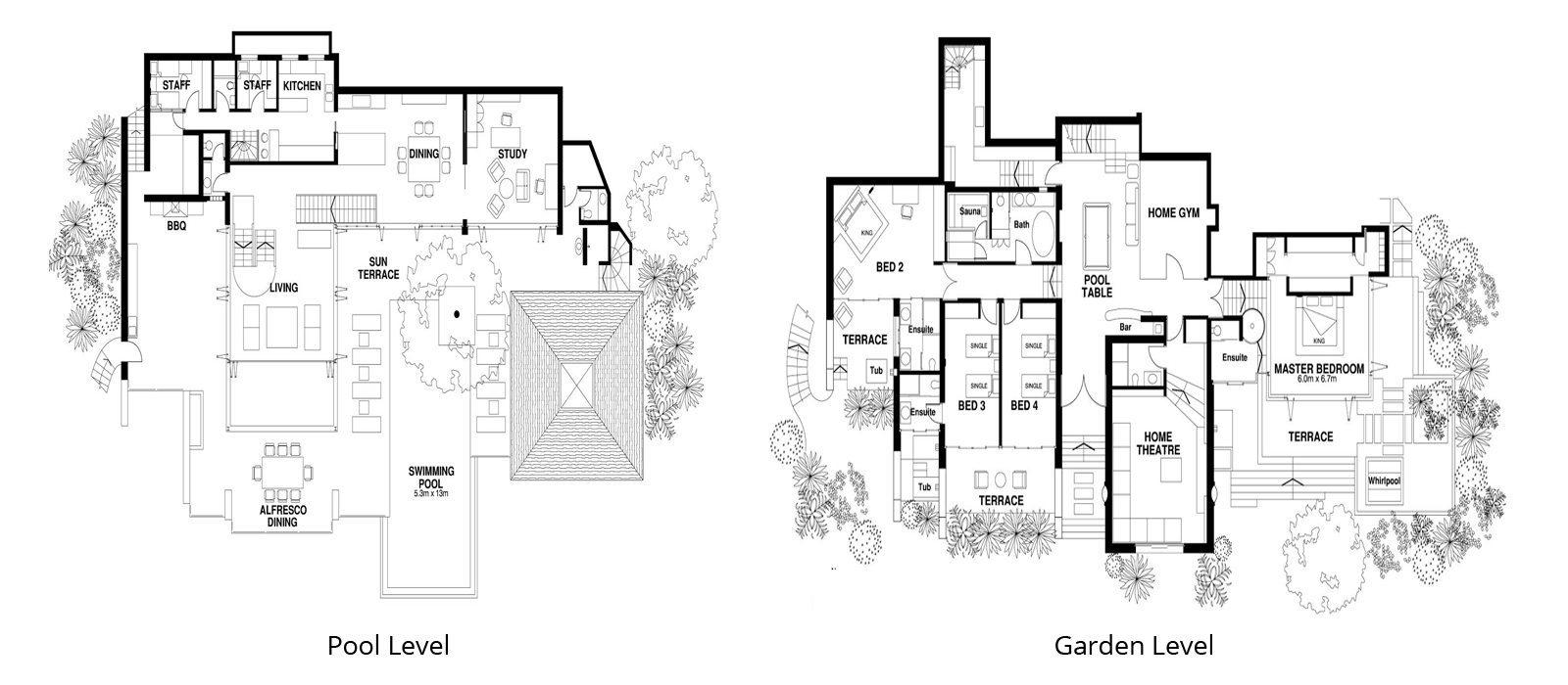 Villa Leelavadee Floorplan | Kamala, Phuket
