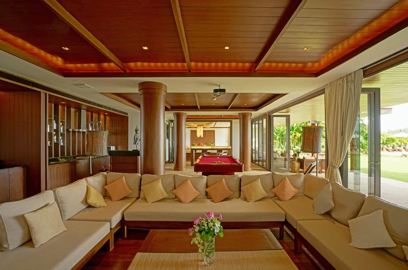 Villa Aye Indoor Living Area with Garden View | Kamala, Phuket