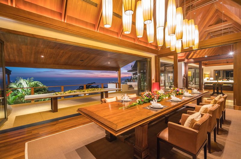 Villa Aye Indoor Dining Area with Sea View | Kamala, Phuket