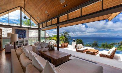 Villa Chan Grajang Indoor Living Area with Pool View   Surin, Phuket