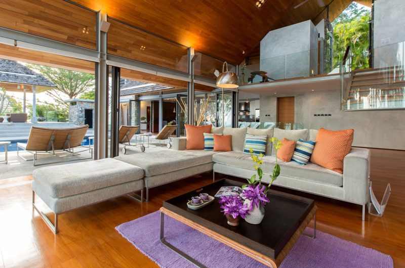 Villa Hale Malia Living Area with Pool View | Kamala, Phuket