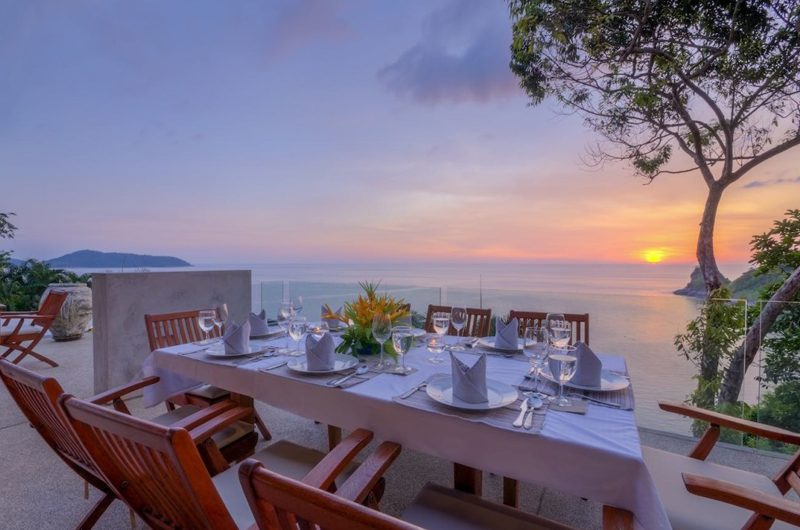 Villa Lomchoy Outdoor Dining with Sea View | Kamala, Phuket