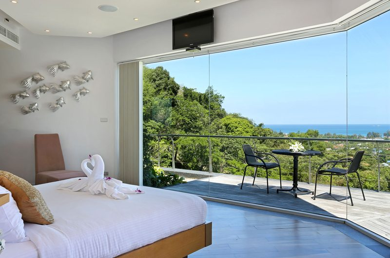 Villa Namaste Bedroom and Balcony | Bang Tao, Phuket