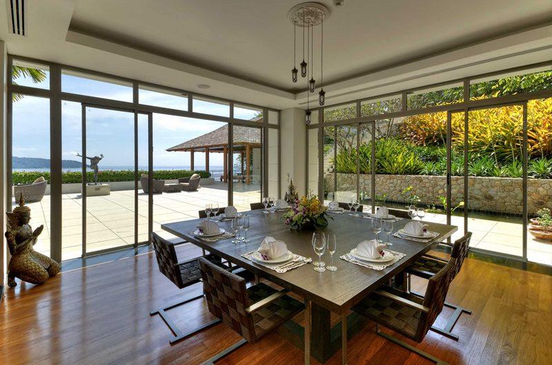 Villa Wang Nam Jai Dining Area with Sea View | Kamala, Phuket