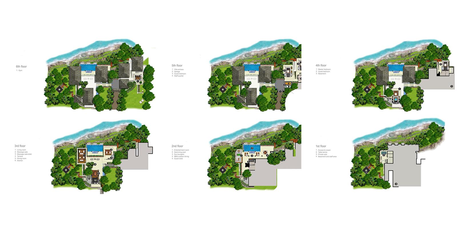 Villa Wang Nam Jai Floor Plan | Kamala, Phuket