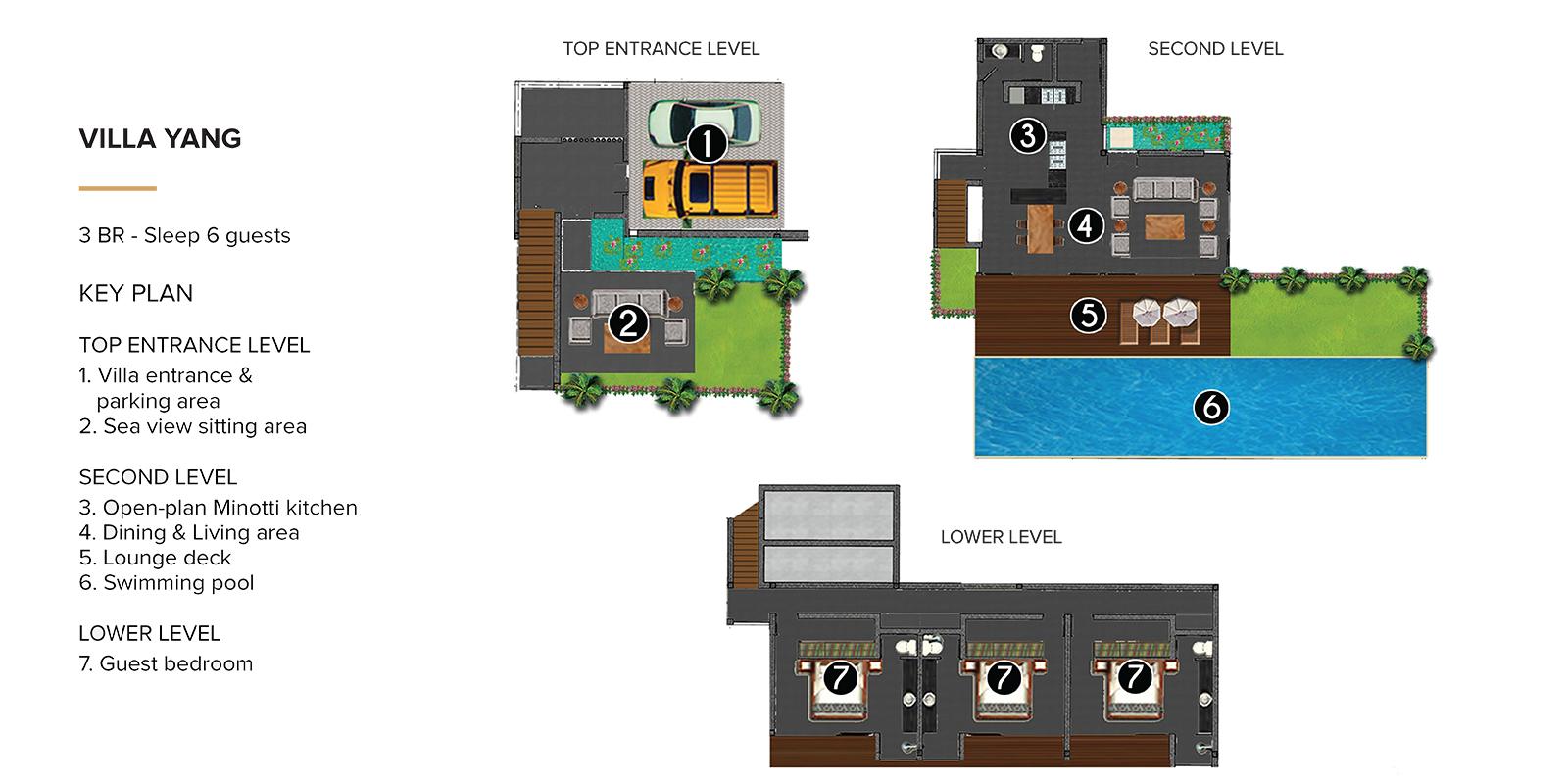 Villa Yang Floor Plan | Kamala, Phuket