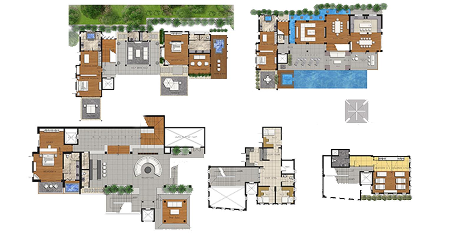 Villa Yang Som Floor Plan | Surin, Phuket