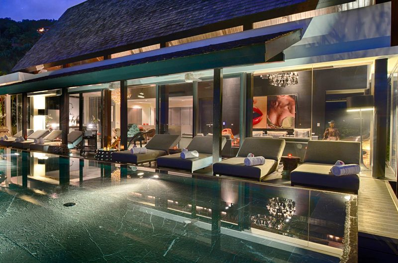 Villa Yin Swimming Pool at Night | Kamala, Phuket