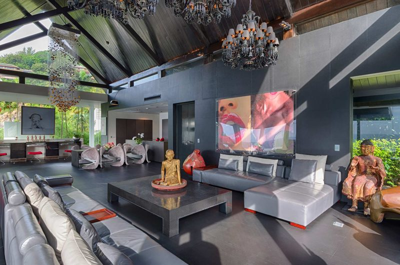 Villa Yin Indoor Living Area | Kamala, Phuket