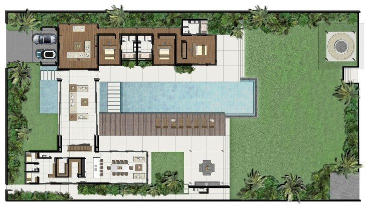 Villa Amarelo Floorplan | Phuket, Thailand