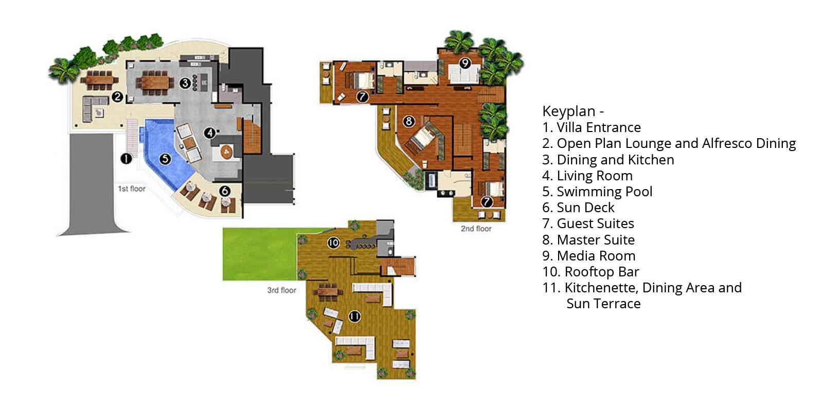 Villa Namaste Floorplan | Bang Tao, Phuket