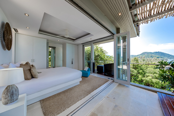 The Headland Villa 5 Guest Bedroom with Balcony | Taling Ngam, Koh Samui