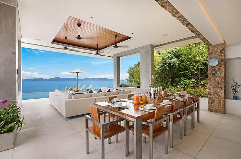 Villa Blue View Dining Table | Bang Por, Koh Samui