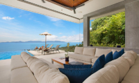 Villa Blue View Seating with Ocean Views | Bang Por, Koh Samui