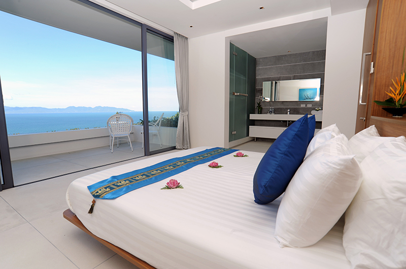 Villa Blue View Bedroom with Balcony | Bang Por, Koh Samui