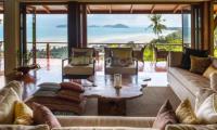 Villa Sila Varee Living Room   Laem Set, Koh Samui