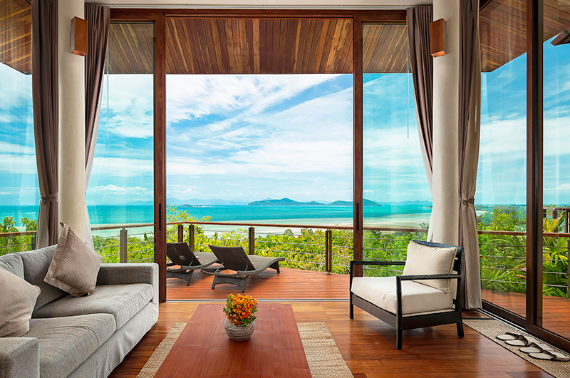 Villa Sila Varee Indoor Seating Area | Laem Set, Koh Samui