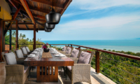 Villa Sila Varee Dining Table with Ocean Views | Laem Set, Koh Samui