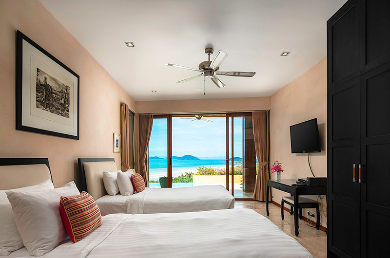 Villa Sila Varee Twin Bedroom with TV | Laem Set, Koh Samui