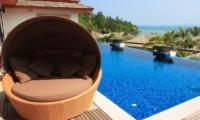 Baan Ratree Pool Side Seating  Koh Samui, Thailand