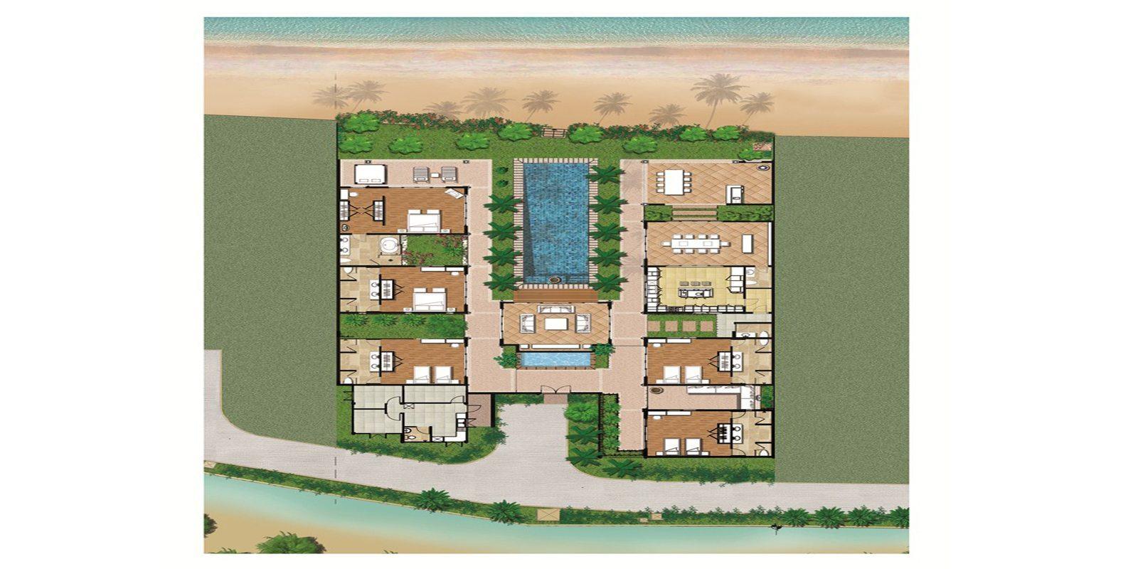 Villa Frangipani Floorplan | Maenam, Koh Samui