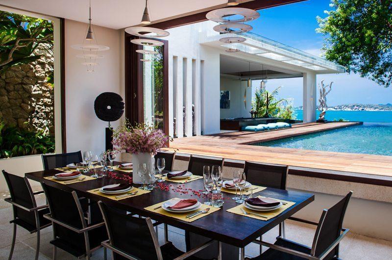 Villa Hin Samui Indoor Dining Area with Pool View   Bophut, Koh Samui