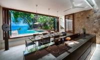 Villa Hin Samui Kitchen and Dining Area with Pool View   Bophut, Koh Samui