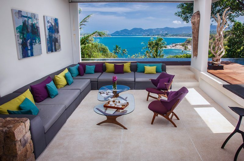 Villa Hin Samui Living Area with Pool View   Bophut, Koh Samui