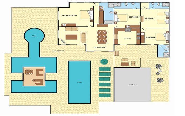 Baan Flora Floorplan | Laem Set, Koh Samui