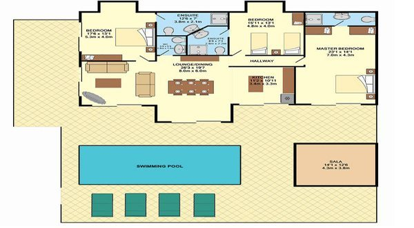 Baan Khwam Rak Floorplan | Laem Set, Koh Samui