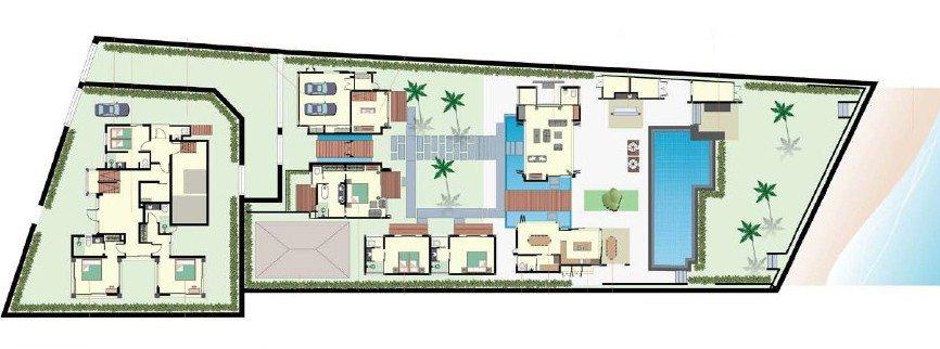 Inasia Beach Villa Floorplan   Lipa Noi, Koh Samui